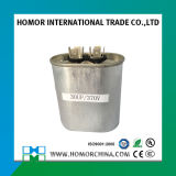 Tipo redondo capacitor do caso de alumínio da condição do ar de Cbb65