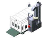 Cabine de jet automobile diesel ou chauffée au gaz de véhicule de pièce de peinture