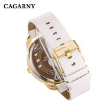 Cagarny Gold Case Watch pour Hommes Pushers Annd 2crowns