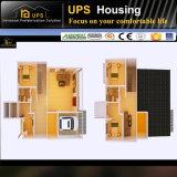 Faible coût des maisons de béton préfabriqués avec plan de conception