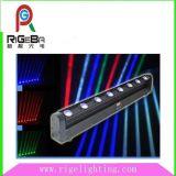 8*10W 4 en 1 LED intérieure de déplacement du faisceau de lumière la barre de tête