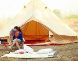 3m Das Rundzelt machte in Groundsheet durch Segeltuch Lifeunder Reißverschluss zu. Baumwollsegeltuch 100%. Große Familien-Zelt. Rundzelt für das Kampieren. Ausgezeichneter Wert-kampierendes Zelt