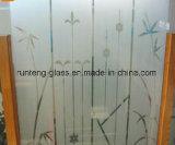 o ácido do bronze de 4mm (Brown) gravou vidro de vidro/geado com preço favorável