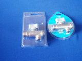 Caisse d'emballage transparente de boursouflure de PVC pour la caisse d'emballage de boursouflure de valve d'angle pour la valve