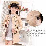 Corée fille Habit croisé de drap Manteau de vent devenir belle fille