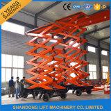 Quatre roues levage hydraulique mobile de 14 M