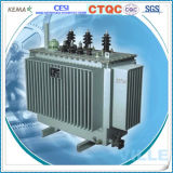 transformateur amorphe triphasé immergé dans l'huile d'alliage de 125kVA 10kv/transformateur de distribution