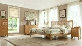 固体木のベッドの現代ダブル・ベッド(M-X2292)