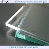 태양열 수집기 덮개를 위한 4mm 완전히 부드럽게 한 여분 명확한 유리