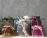 La fábrica proporciona al florero de cristal de la venta caliente de la muestra libre para la decoración casera