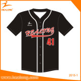 Basebol personalizado Jersey do Sublimation da venda de Healong Sportswear superior