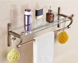 Verre trempé clair / trempé pour étagères de salle de bain Trous personnalisés