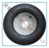 4.00-8 Безламповое резиновый колесо использовано для колеса большого корабля инструмента, колеса аграрного корабля инструмента