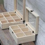격실을%s 가진 주문을 받아서 만들어진 Eco-Friendly 단단한 소나무 차 상자