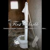 Fontaine de marbre blanche pour la décoration à la maison Mf-1292
