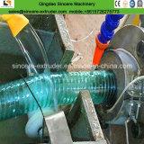 PVC鋼線の機械を作る補強された螺線形のホースの放出