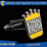 Cufflink кроны самомоднейшего изготовленный на заказ сувенира способа промотирования фабрики золотистый