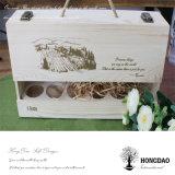 Rectángulo de madera de Hongdao para el vino y almacenaje y Gift_D