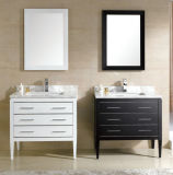 Wood solido Bathroom Cabinet con Marble Top