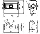 Wasserdichtes IP69k Color Reverse Car Camera mit Auto Shutter (DF-8098)