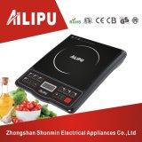Colore nero con il fornello di induzione di Ailipu del pulsante dell'alloggiamento dell'ABS