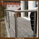 Edelstahl-Kabel-Geländer-Installationssatz für Balkon (SJ-H074)