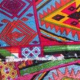 Tissu imprimé crêpe 100%Viscose pour vêtements