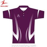 Healong ha personalizzato la camicia di polo piena di sublimazione di marca superiore degli abiti sportivi