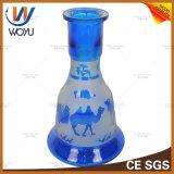 Tabak Shisha van de Besnoeiing van het Water van de Pijpen van het Glas van Neptunus van Shisha de Blauwe