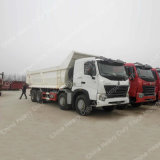 12車輪A7 8X4のダンプカーLHD/Rhd&#160の50トンのダンプトラック;