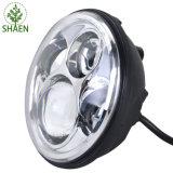 """7 """" linterna redonda de la pulgada 45W LED con el anillo del halo"""