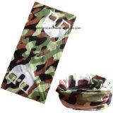 El verde modificado para requisitos particulares por encargo del ejército de la insignia imprimió la piel de ante de múltiples funciones inconsútil del Bandana de la muchacha promocional