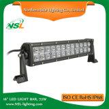 16 Vehicle 12V LED Light Bar LED Work Light Barres lumineuses à LED de haute qualité de 72W