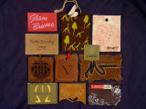 Escritura de la etiqueta colgante de la etiqueta, escritura de la etiqueta colgante de la PU, escritura de la etiqueta de cuero colgante