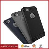iPhoneのための静かのカーボンファイバーTPUの可動装置か携帯電話の箱7 7plus 8プラスX