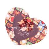Cadeau Hearted de papier d'imprimerie de forme empaquetant Boxes&#160 ; avec la bande