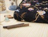 Tela por atacado do laço da flor do bordado para o vestuário