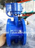 API/DIN/JIS Dutile Ferro GGG45 Válvula Borboleta de Flange com engrenagem