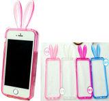 Heißer weicher Stoßkasten des Verkaufs-Kaninchen-TPU für iPhone 6