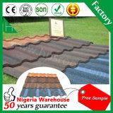 Panneau coloré en acier de toit de matériau de construction de feuille de toit en métal enduit en pierre