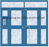 良質の入口の電気鋼鉄ガラスドア(W-GD-09)を構築するプロジェクト