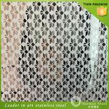 Comercio al por mayor grabado hoja decorativa de acero inoxidable para el armario de cocina