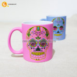 caneca Finished de borracha colorida 330ml com decalque do Glitter