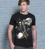 T-shirt noir élevé d'hommes d'impression de Digitals de roche de Quallity de mode d'usine de Guangzhou