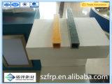 Le Pultrusion en plastique de fibre de verre de pipe renforcé par fibres de verre rectangulaires en plastique de tube de fibre de verre de renfort profile des profils de Pultruded de fibre de verre