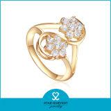 Позолоченный стерлингов Серебряное кольцо с AAA Циркон покрытием (R-0328)