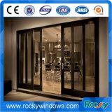 Preço de alumínio vitrificado da porta da porta deslizante do preço da porta deslizante dobro de vidro grande
