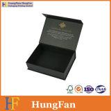 Cadre de empaquetage de papier d'impression de cadeau noir de luxe d'emballage