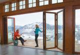 Роскошная дверь складчатости двойной застеклять установки вилл алюминиевая