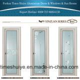 Portello interno della stanza da bagno e portello dell'acquazzone con il vetro temperato